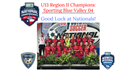 U13 Girls Region II Champions are Sporting Blue Valley 04! The girls are...